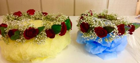 Red Roses & Babies Breath Bridal/Bridesmaid/Flower Girl Halos