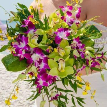 Beautiful Tropical All Orchid Bouquet