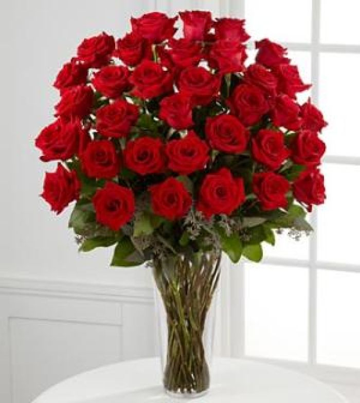 Three Dozen Red Long Stem Roses