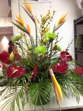 Large Tropical Ceremony Urn Arrangement