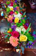 Fun & Colorful Sq. Cube Centerpieces
