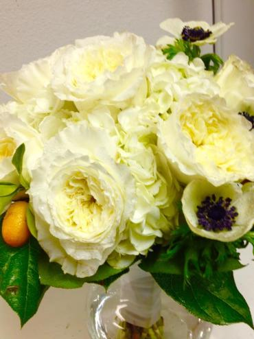 Garden Roses/White Hydrangeas/Enemies/Kumquat Bouquet
