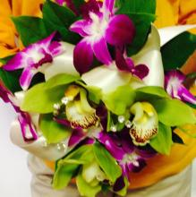 Stunning All Orchid Bridesmaids Bouquet