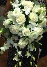 All Creamy White Cascade Bouquet