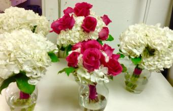 Simple White Hydrangeas Bouquets